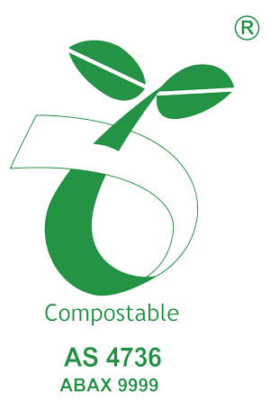 logo commercially compostable